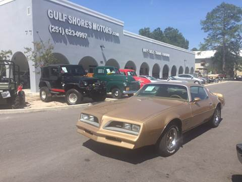 1977 Pontiac Firebird Espirit for sale at Gulf Shores Motors in Gulf Shores AL