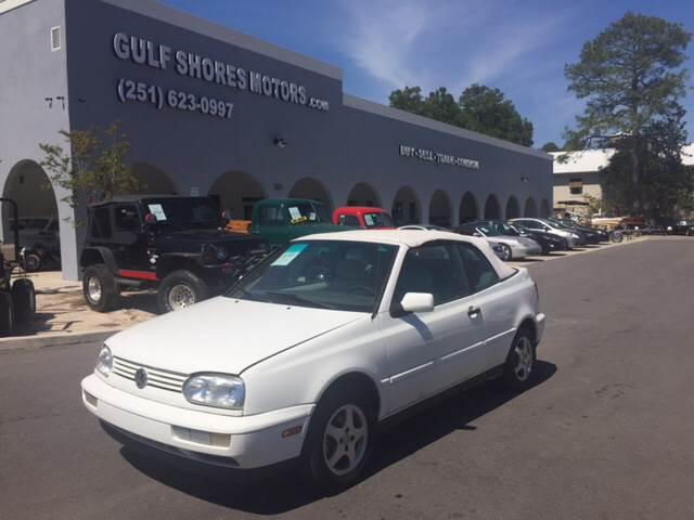 1999 Volkswagen Cabrio for sale at Gulf Shores Motors in Gulf Shores AL