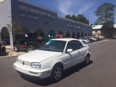 1999 Volkswagen Cabrio for sale at Gulf Shores Motors in Gulf Shores AL