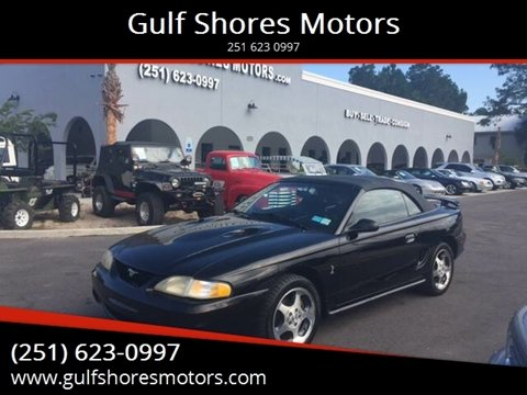 1996 Ford Mustang SVT Cobra for sale at Gulf Shores Motors in Gulf Shores AL