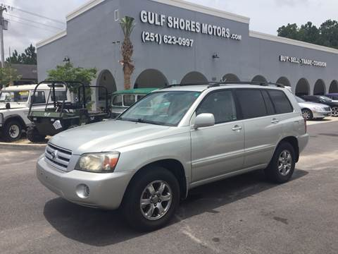 2004 Toyota Highlander for sale at Gulf Shores Motors in Gulf Shores AL
