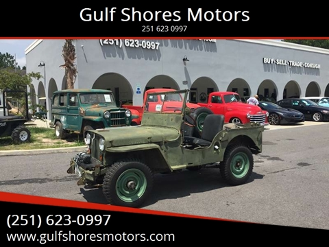 1948 Jeep Willys for sale at Gulf Shores Motors in Gulf Shores AL