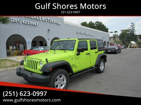 2016 Jeep Wrangler Unlimited for sale at Gulf Shores Motors in Gulf Shores AL