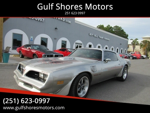 1978 Pontiac Firebird for sale at Gulf Shores Motors in Gulf Shores AL