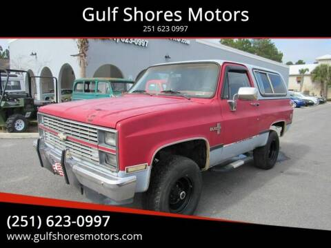1984 Chevrolet Blazer for sale at Gulf Shores Motors in Gulf Shores AL