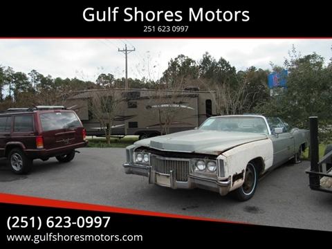 1972 Cadillac Eldorado for sale at Gulf Shores Motors in Gulf Shores AL
