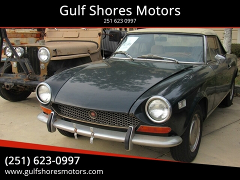 1971 FIAT 124 Spider for sale at Gulf Shores Motors in Gulf Shores AL