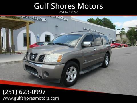 2006 Nissan Armada for sale at Gulf Shores Motors in Gulf Shores AL