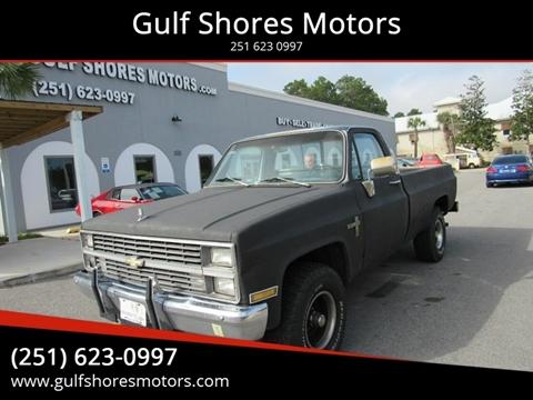 1983 Chevrolet C/K 10 Series K10 Silverado for sale at Gulf Shores Motors in Gulf Shores AL