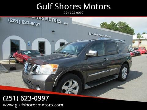 2010 Nissan Armada for sale at Gulf Shores Motors in Gulf Shores AL