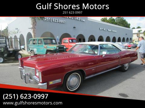 1971 Cadillac Eldorado for sale at Gulf Shores Motors in Gulf Shores AL