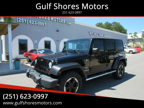 2012 Jeep Wrangler Unlimited for sale at Gulf Shores Motors in Gulf Shores AL