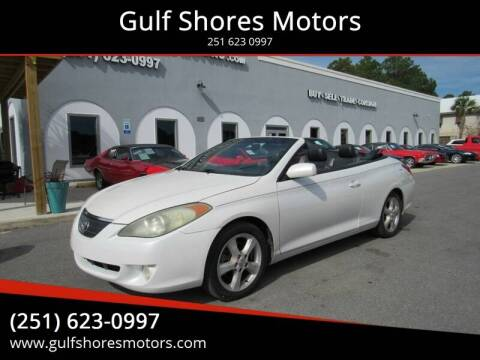 2005 Toyota Camry Solara for sale at Gulf Shores Motors in Gulf Shores AL