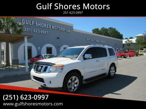 2012 Nissan Armada for sale at Gulf Shores Motors in Gulf Shores AL