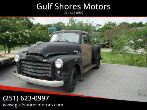 1949 GMC 100 for sale at Gulf Shores Motors in Gulf Shores AL