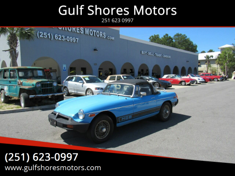 1979 MG MGB for sale at Gulf Shores Motors in Gulf Shores AL