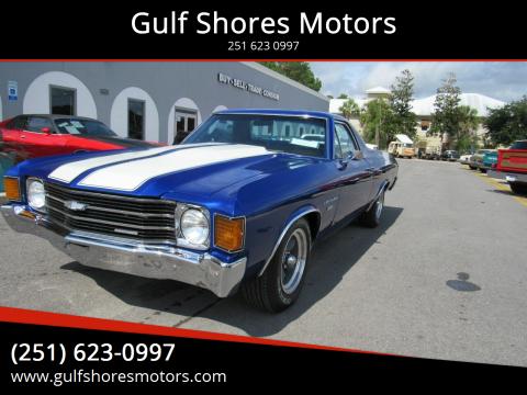 1972 Chevrolet El Camino for sale at Gulf Shores Motors in Gulf Shores AL