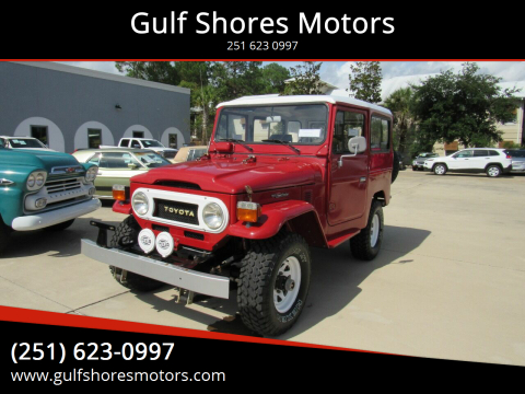 1978 Toyota Land Cruiser for sale at Gulf Shores Motors in Gulf Shores AL