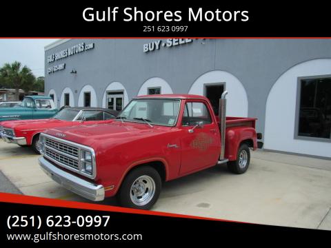1979 Dodge Adventure 6000 for sale at Gulf Shores Motors in Gulf Shores AL