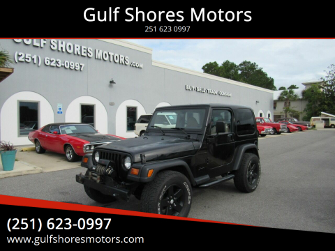 1999 Jeep Wrangler for sale at Gulf Shores Motors in Gulf Shores AL