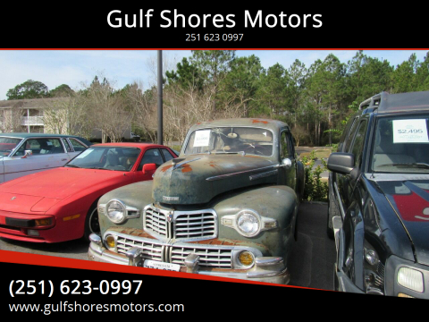 1947 Lincoln Zephyr for sale at Gulf Shores Motors in Gulf Shores AL