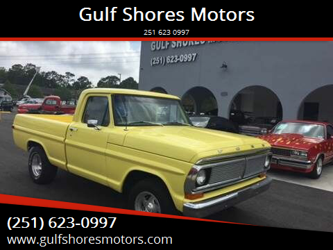 1970 Ford F 10 for sale at Gulf Shores Motors in Gulf Shores AL