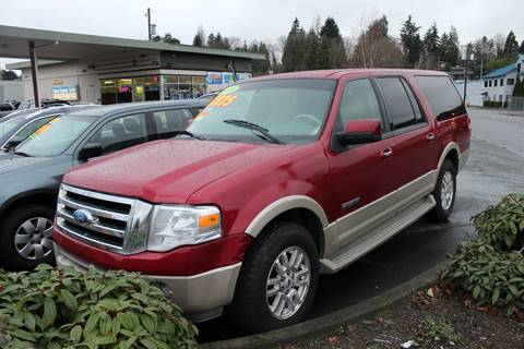 2008 Ford Expedition EL for sale at Bayview Motor Club, LLC in Seatac WA