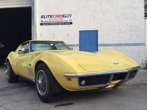 1969 Chevrolet Corvette for sale at Elite Cars Pro - Classic cars for export in Hollywood FL