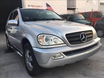 2003 Mercedes-Benz M-Class for sale at Elite Cars Pro in Oakland Park FL