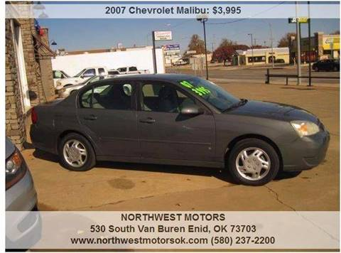 2007 Chevrolet Malibu for sale at NORTHWEST MOTORS in Enid OK