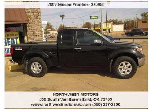 2006 Nissan Frontier for sale at NORTHWEST MOTORS in Enid OK