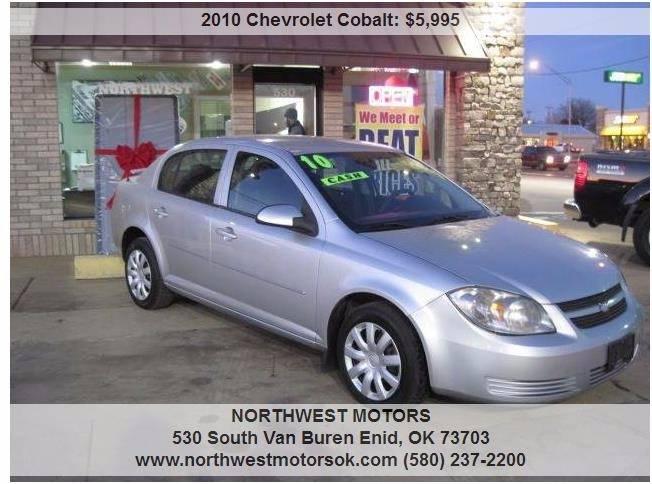 2010 Chevrolet Cobalt for sale at NORTHWEST MOTORS in Enid OK