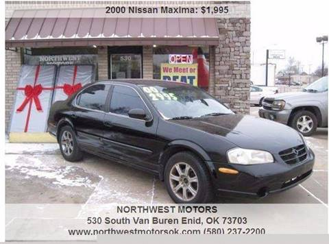 2000 Nissan Maxima for sale at NORTHWEST MOTORS in Enid OK