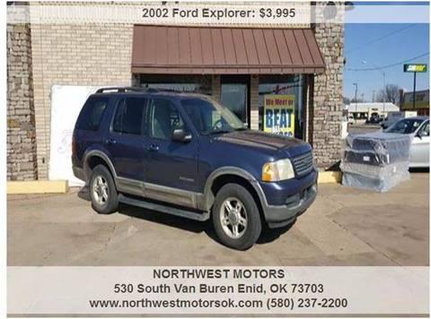 2002 Ford Explorer for sale at NORTHWEST MOTORS in Enid OK