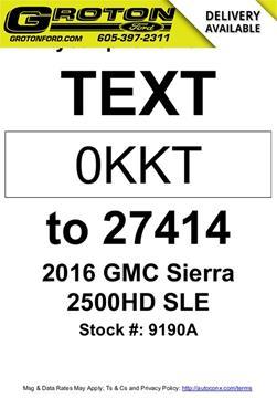 2016 GMC Sierra 2500HD for sale in Groton, SD