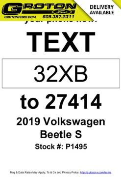 2019 Volkswagen Beetle for sale at Groton Ford in Groton SD