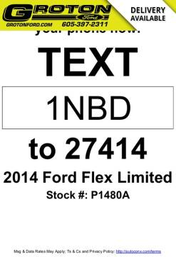 2014 Ford Flex Limited for sale at Groton Ford in Groton SD