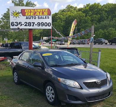 2010 Toyota Corolla for sale at Dynamite Deals LLC in Arnold MO