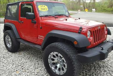2012 Jeep Wrangler for sale at Dynamite Deals LLC in Arnold MO