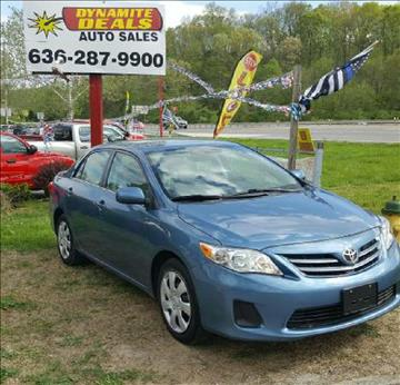 2013 Toyota Corolla for sale at Dynamite Deals LLC in Arnold MO