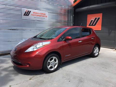 2013 Nissan LEAF for sale at IRONWORKS MOTORSPORTS in Cartersville GA