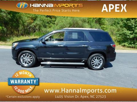 2013 GMC Acadia for sale in Raleigh, NC