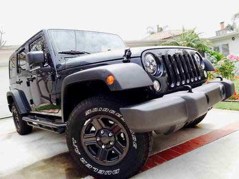 2016 Jeep Wrangler Unlimited for sale at AUTO CONCEPT SAN DIEGO in San Diego CA