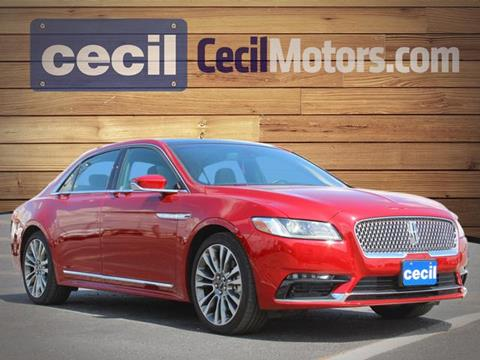 2017 Lincoln Continental for sale in Hondo, TX