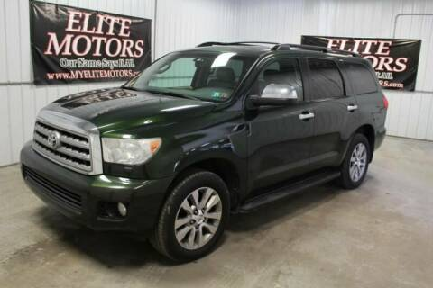 2010 Toyota Sequoia for sale at Elite Motors in Uniontown PA