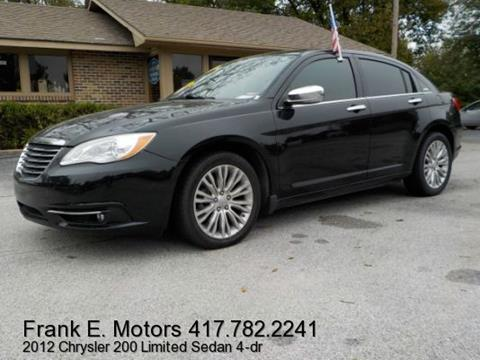 2012 Chrysler 200 for sale in Joplin, MO