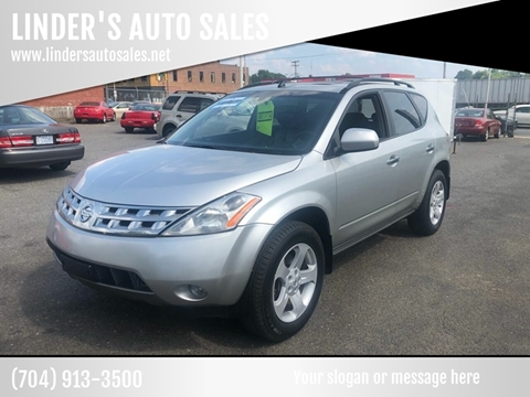 2005 Nissan Murano for sale at LINDER'S AUTO SALES in Gastonia NC