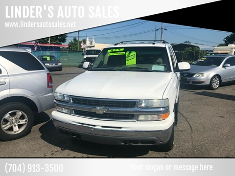 2003 Chevrolet Tahoe for sale at LINDER'S AUTO SALES in Gastonia NC