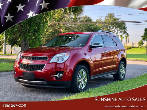 2015 Chevrolet Equinox for sale at Sunshine Auto Sales in Oakland Park FL