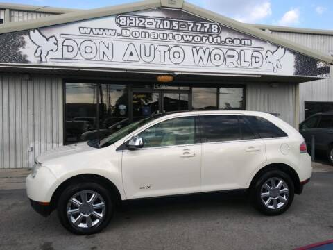 2007 Lincoln MKX for sale at Don Auto World in Houston TX